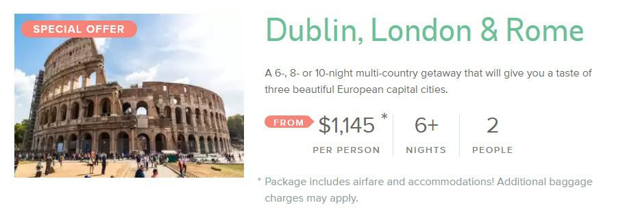 Dublin-London-Rome-deals